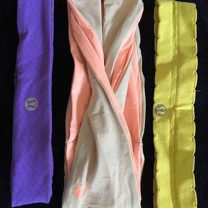 3 lululemon headbands OS
